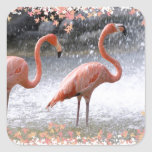 Flamingos and waterfall stickers