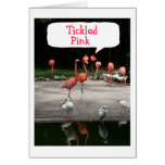 """FLAMINGOS ARE """"TICKLED PINK"""" IT IS YOUR BIRTHDAY GREETING CARD"""