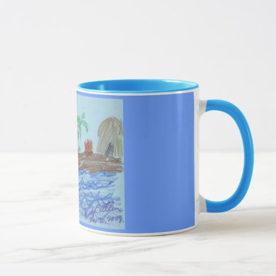 Flamingos at night mug