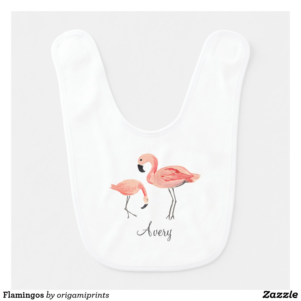 Flamingos Baby Bib