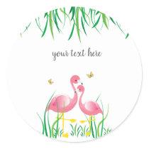 Flamingos Birthday Sticker