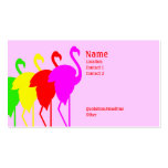 Flamingos Double-Sided Standard Business Cards (Pack Of 100)
