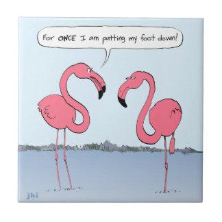 Flamingos Cartoon Ceramic Tile