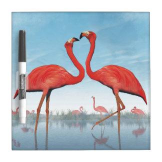 Flamingos courtship - 3D render Dry-Erase Board
