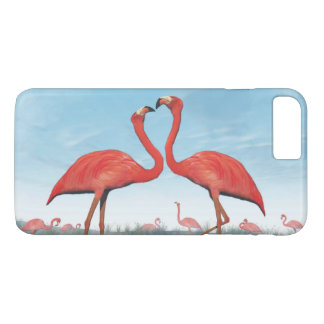 Flamingos courtship - 3D render iPhone 7 Plus Case