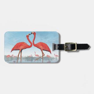 Flamingos courtship - 3D render Luggage Tag