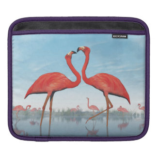 Flamingos courtship - 3D render Sleeve For iPads