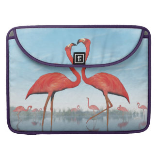 Flamingos courtship - 3D render Sleeve For MacBooks