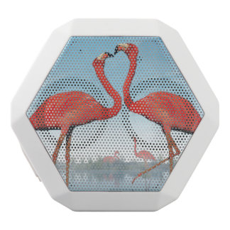 Flamingos courtship - 3D render White Bluetooth Speaker