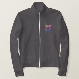 Flamingos Embroidered Jacket