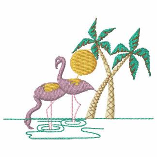 Flamingos Embroidered Shirt