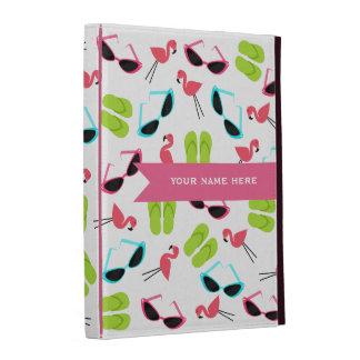 Flamingos & Flip Flops Personalized iPad Folio iPad Cases