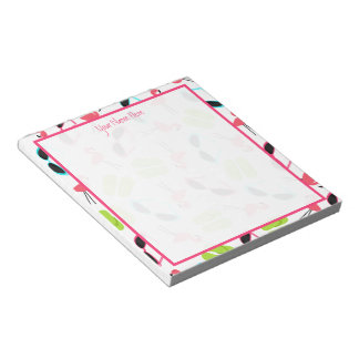 Flamingos Flip Flops & Sunglasses Notepad