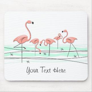 """Flamingos Group """"Text"""" mousepad"""