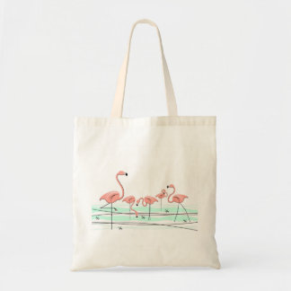 Flamingos Group tote bag