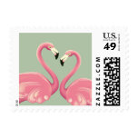 Flamingos in Love Postage