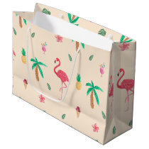 Flamingos in the Summer Large Gift Bag