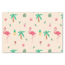 Flamingos in the Summer Tissue Paper