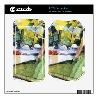 Flamingos in the Zoo by August Macke HTC Sensation Skins