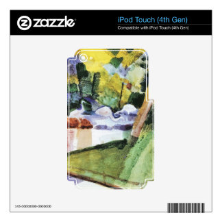 Flamingos in the Zoo by August Macke iPod Touch 4G Skin