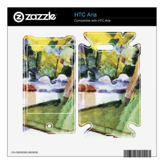 Flamingos in the Zoo by August Macke Decals For The HTC Aria