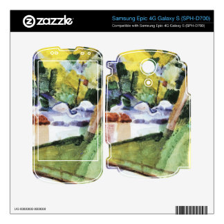 Flamingos in the Zoo by August Macke Samsung Epic Decals