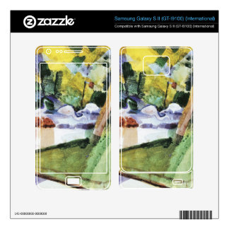 Flamingos in the Zoo by August Macke Samsung Galaxy S II Decal