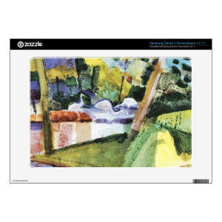 Flamingos in the Zoo by August Macke Samsung Chromebook Decal