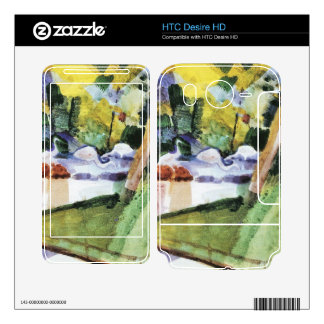 Flamingos in the Zoo by August Macke Skin For HTC Desire HD