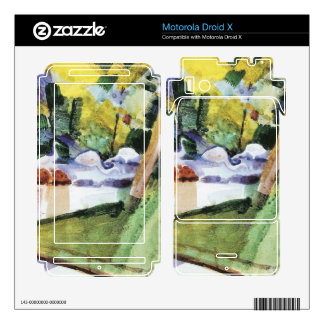 Flamingos in the Zoo by August Macke Motorola Droid X Decals