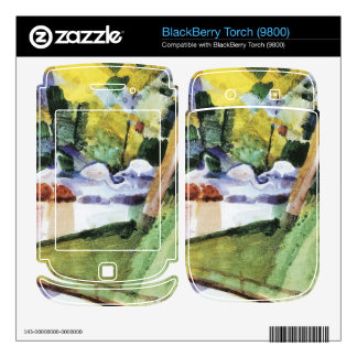 Flamingos in the Zoo by August Macke BlackBerry Torch Decal