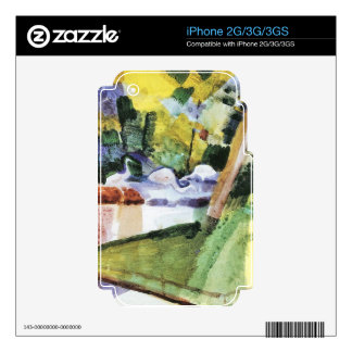 Flamingos in the Zoo by August Macke iPhone 3G Skins
