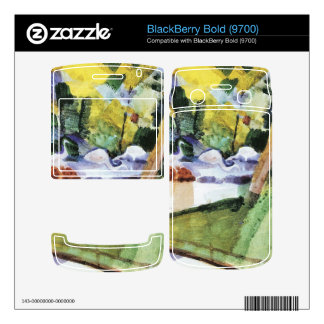 Flamingos in the Zoo by August Macke Skin For BlackBerry