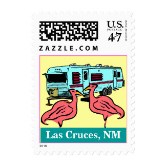 Flamingos Las Cruces NM RV Trailer Vacation Stamps