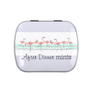 Flamingos Line After Dinner Mints candy tin