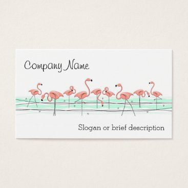 Professional Business Flamingos Line business card