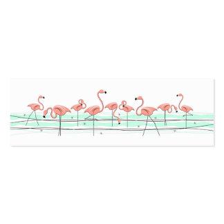 Flamingos Line business card side text skinny