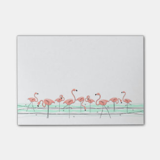 Flamingos Line Post-it® Notes