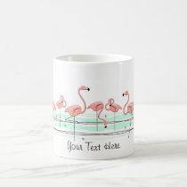 Flamingos Line 'Text' mug