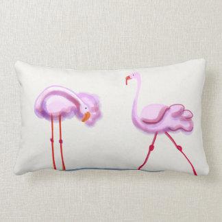 Flamingos Lumbar Pillow