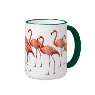 Flamingos Ringer Coffee Mug