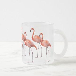 Flamingos 10 Oz Frosted Glass Coffee Mug