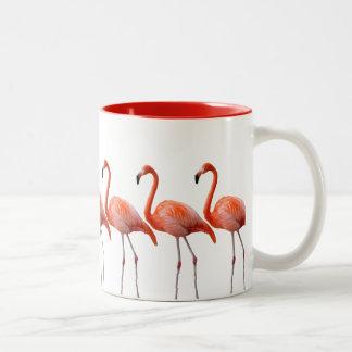 Flamingos Two-Tone Coffee Mug