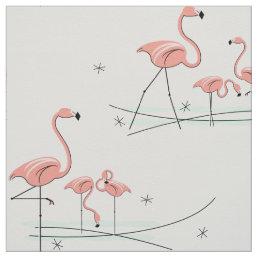 Flamingos Multi large pattern Fabric
