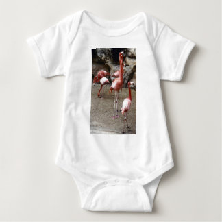 Flamingos on Parade Baby Bodysuit