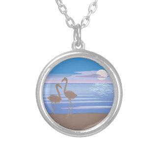 Flamingos On the Beach Pendants