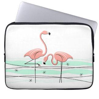 Flamingos Pair Name laptop sleeve