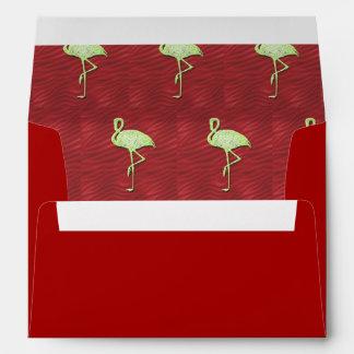 Flamingos pattern envelope