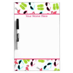 Flamingos Personalized Medium Dry Erase Board at Zazzle