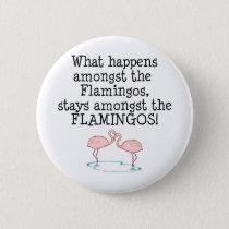 Flamingos Pinback Button